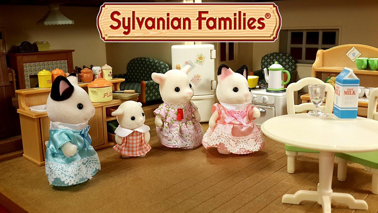 Большой дом со светом Sylvanian Families (Сильвания Фэмили) - YouTube