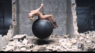 Miley Cyrus swings around completely naked in 'Wrecking Ball' music video