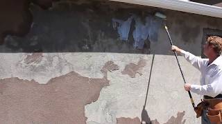 Stucco separating from walls, loose stucco finish coat peeling off