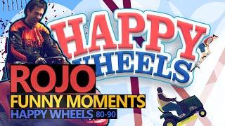 Funny Moments #61: HAPPY WHEELS 80-90 (Rojo & Urhara)
