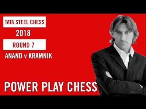 Tata Steel Chess 2018 Round 7 Anand v Kramnik