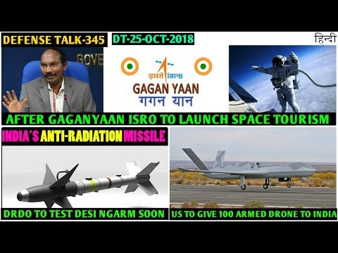 Indian Defence News:ISRO to launch Space tourism,US to give 100 armed Drone to IAF,DRDO NGARM trial