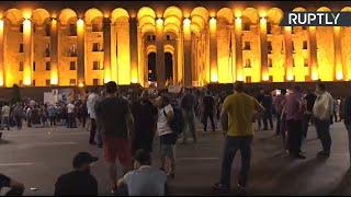 Митинги в Тбилиси против ЛГБТ-сообщества и за отставку главы МВД — LIVE