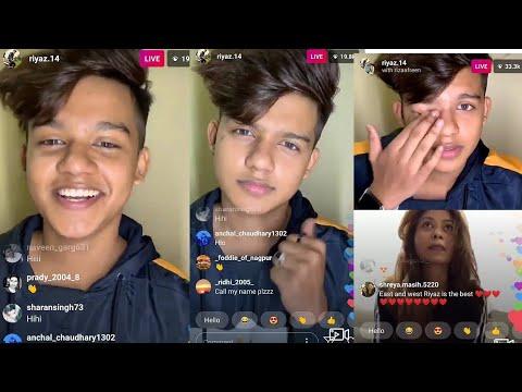 Download Riyaz.14 Latest Live On Instagram on 12 October | Riyaz Live With Riza Afreen