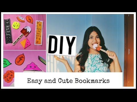 DIY easy and cute Bookmarks || kawaii Bookmarks || Back to school || India DIY ideas 2019