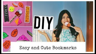 DIY || DIY easy and cute Bookmarks || kawaii Bookmarks || Back to school || India DIY ideas 2019