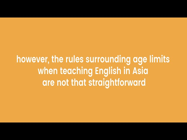 Are There Age Restrictions on Teaching English Abroad (TEFL)?