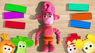 Пластилиновые Фиксики - Лепим Масю из мультика про Фиксиков. Обучающее видео для детей