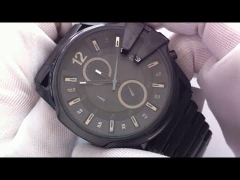 0e8ec79c3d25 Men s Diesel Blackout Steel Chronograph Watch DZ4180 - YouTube