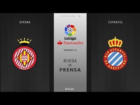 Rueda de prensa Girona vs Espanyol