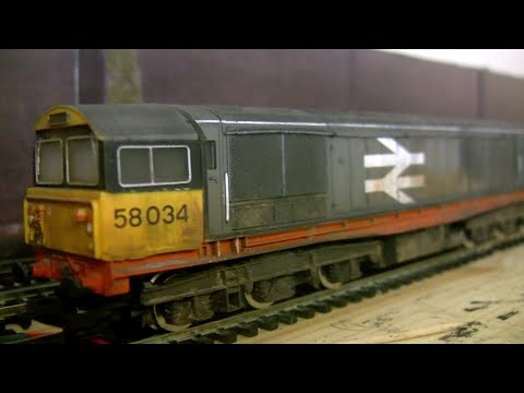 oorail.com | Weathering the Hornby Class 58 - OO scale Model Railway