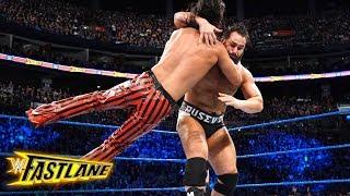 Rusev smashes Shinsuke Nakamura into the ringside barrier: WWE Fastlane 2018 (WWE Network Exclusive)