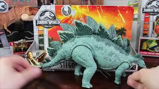 Mattel Jurassic World Fallen Kingdom Action Attack Stegosaurus Review!
