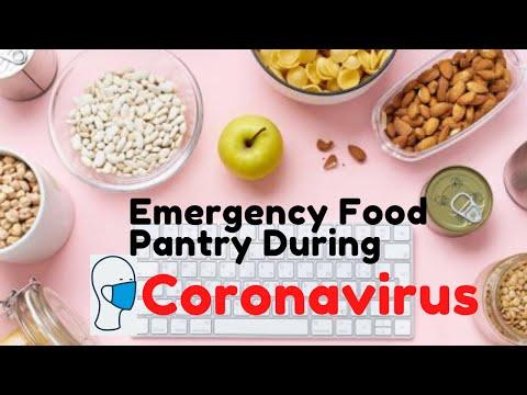Stocking an emergency food pantry during coronavirus....