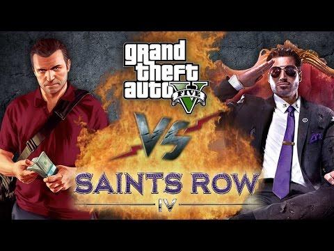 Рэп Баттл - GTA 5 vs. Saints Row 4