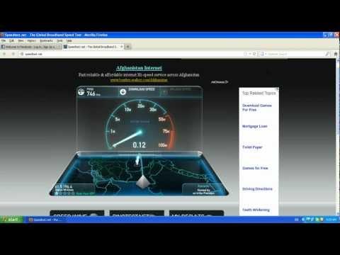 AWCC Internet speed test Afghanistan.  .تست  سرعت انترنت افغان بیسیم