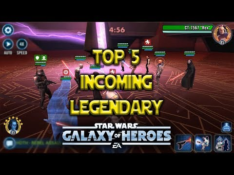 Top 5 Legendary Characters Likely Incoming - Star Wars: Galaxy Of Heroes - SWGOH
