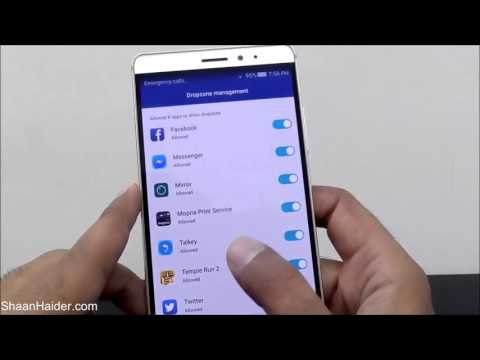 What is Dropzone Management in Huawei Mate S, P8, Mate 7, G8, Honor 7 etc
