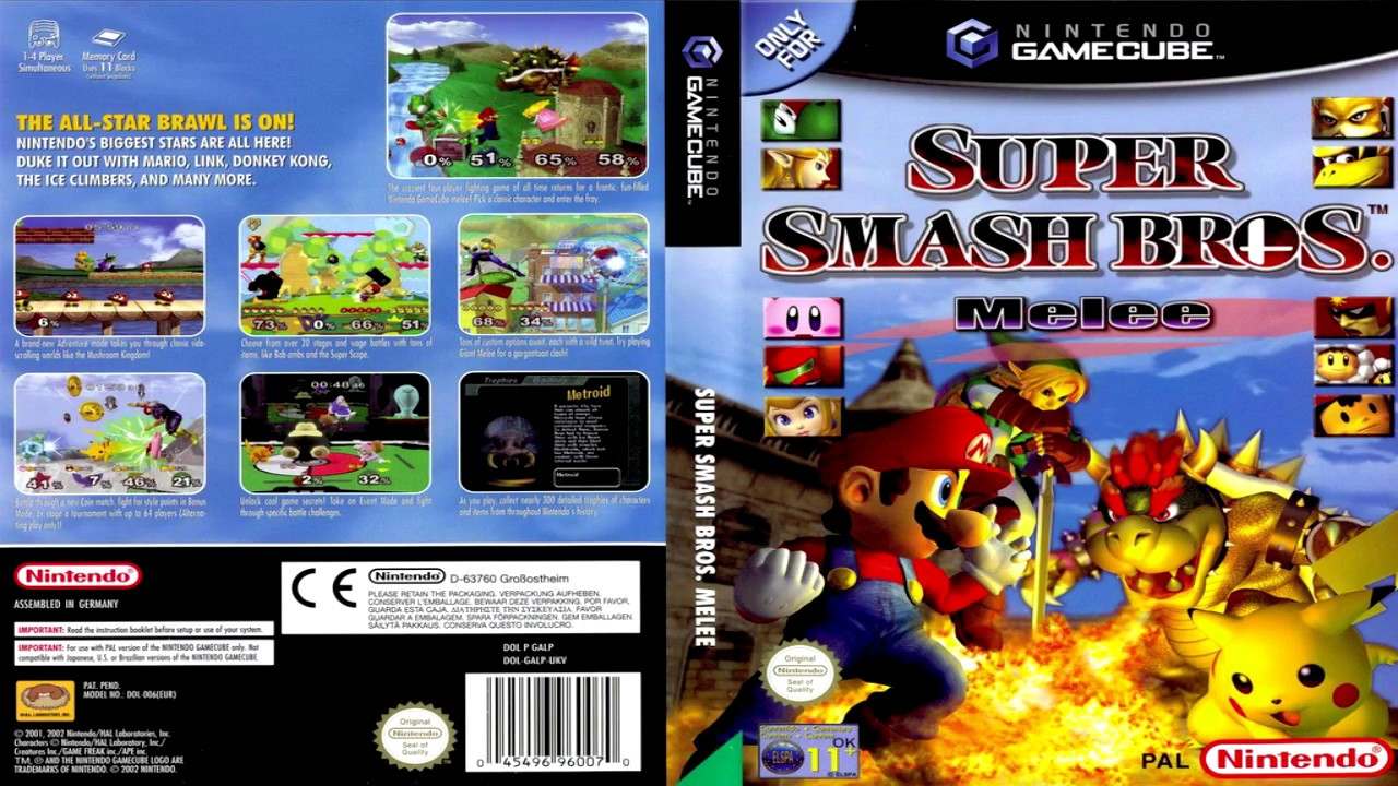Super Smash Bros Melee Gamecube Iso Español Mega | Games World