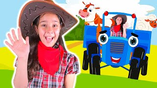Old MacDonald  and blue tractor nursery rhyme from Avigail