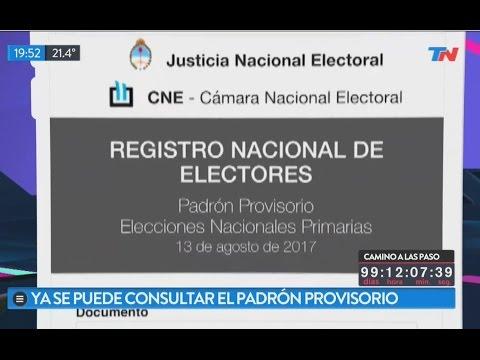 ARGENTINA: Consulta el Padrón Provisorio 2015 - Reclamos al Padrón - Elecciones Nacionalesиз YouTube · Длительность: 4 мин49 с