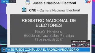 Elecciones: Ya se puede consultar el padrón provisorio