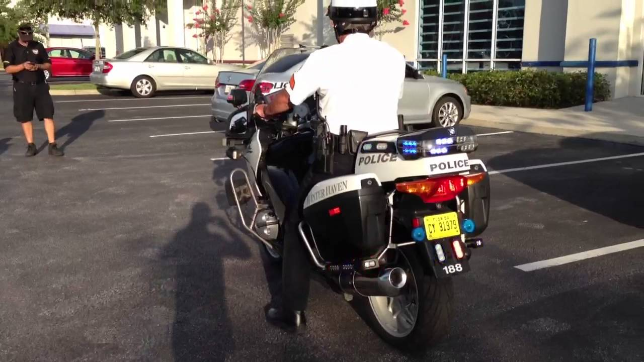 Police Led Lights >> HG2 Emergency Lighting | Winter Haven Police Dept | BMW Police Motorcycle Light Package - YouTube