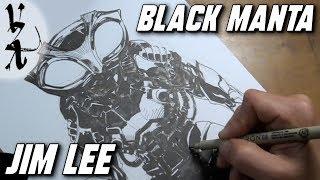 Jim Lee drawing Black Manta