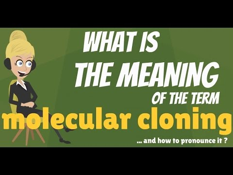 What is MOLECULAR CLONING? What does MOLECULAR CLONING mean? MOLECULAR CLONING meaning