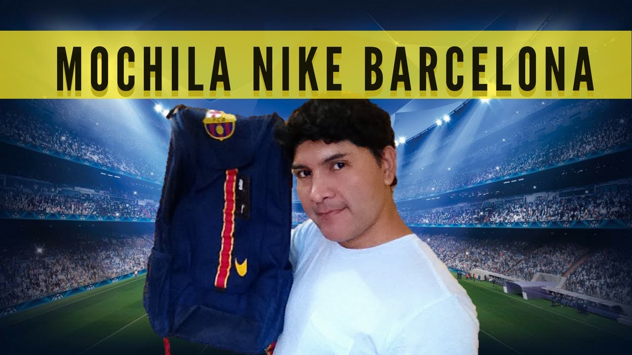 bcf3238f1b Mochila Nike Barcelona FC - YouTube