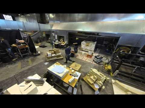 Canberra Glassworks Tank Furnace Rebuild July 2014