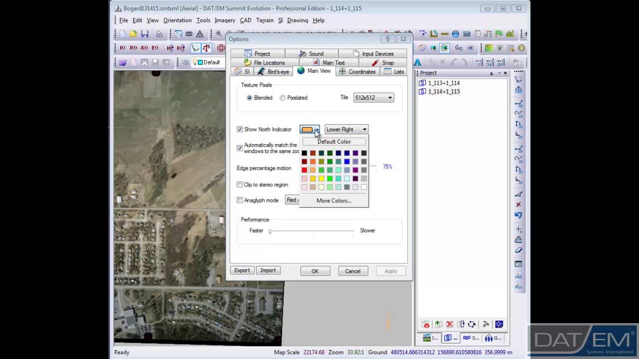 Understanding Imagery Display Direction in Summit