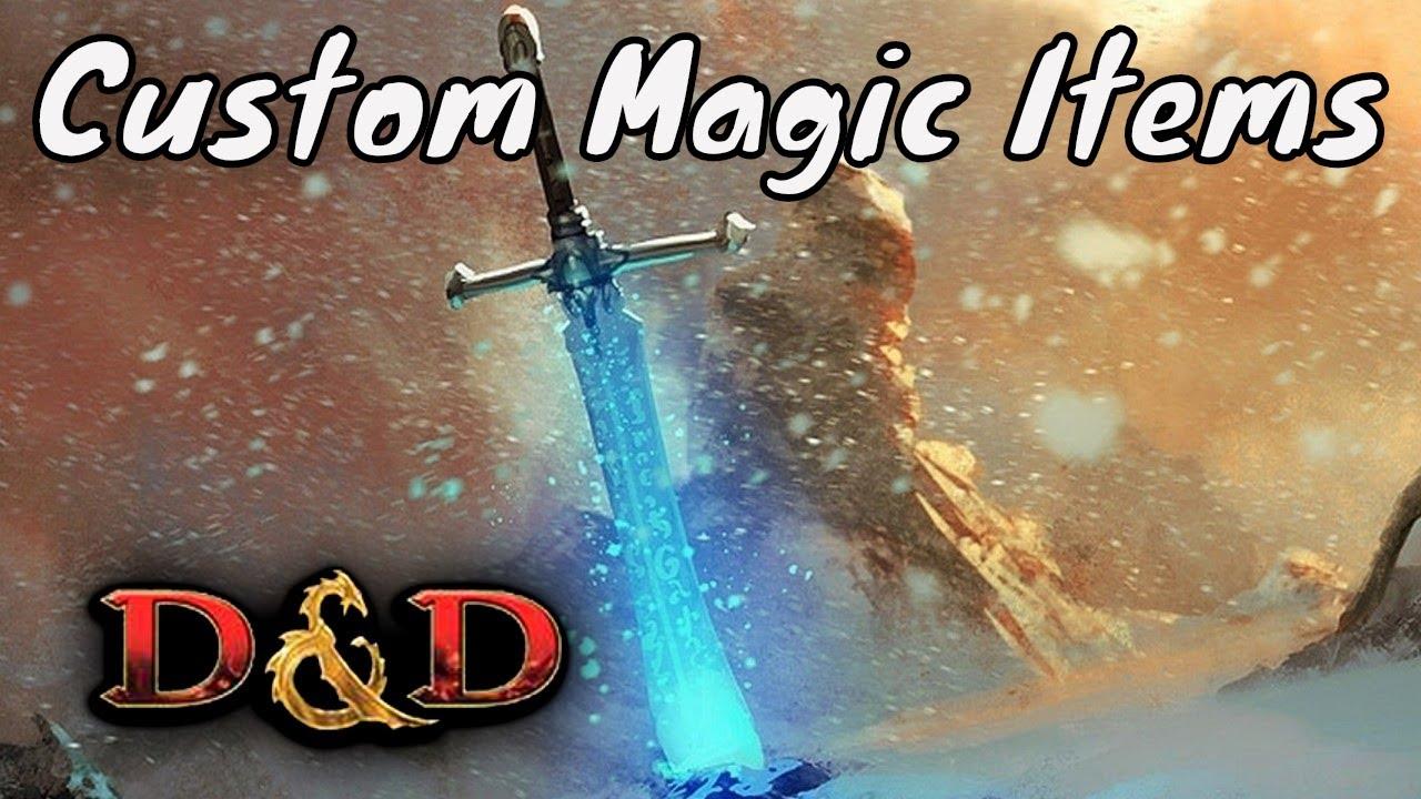 D&D (5e): Creating Custom Magic Items (DM Tips)