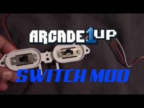 Arcade1up Power and Volume Switch Mod from Holly