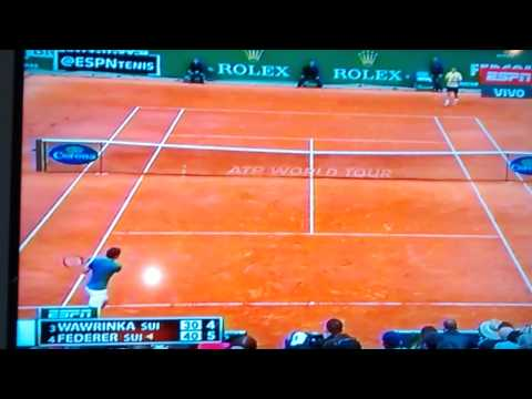 Federer vs Wawrinka Montecarlo 2014 Set Point