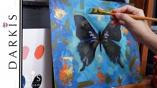 Weiskei Rainbow Butterfly Acrylic on Canvas Painting