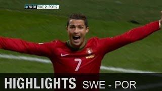 Ronaldos Hattrick schlägt Zlatans Doppelpack   Schweden - Portugal 2:3   WM-Quali