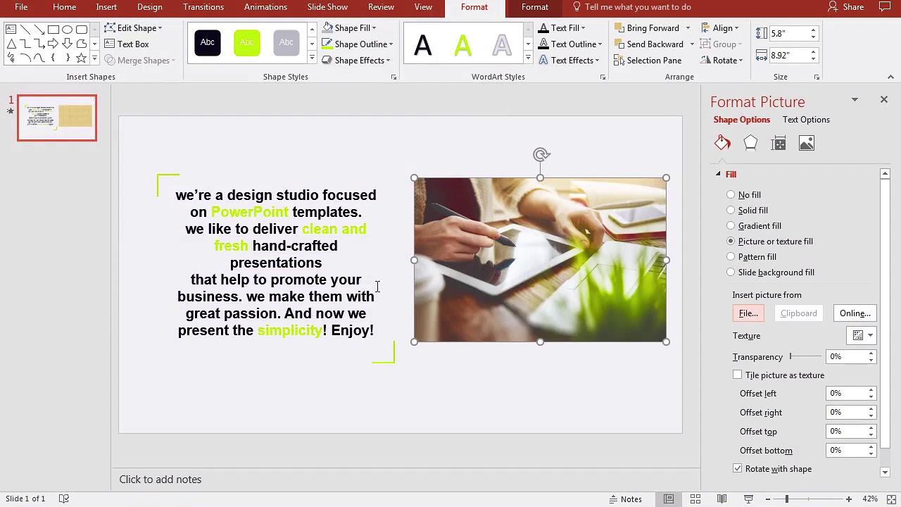 Kako Na Brzinu Fotografiju Uciniti Transparentnom U Powerpointu