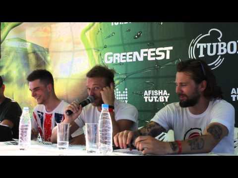 Пресс-конференция группы Дай Дорогу! на GreenFest в Минске