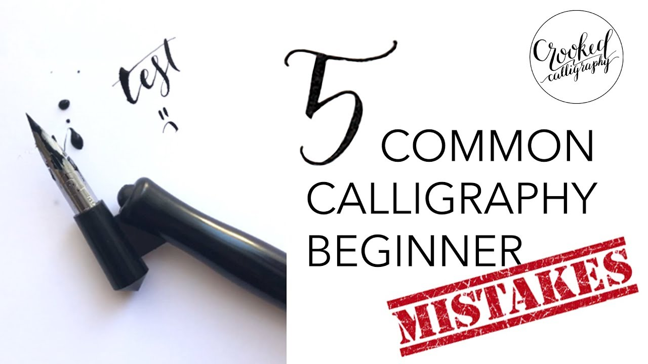 a72573e8411 Calligraphy Beginner MISTAKES! (and how to avoid them)    CROOKED  CALLIGRAPHY