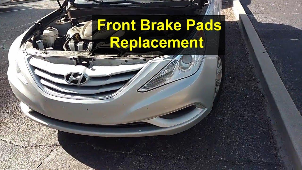 Front brake pads replacmeent noisy brakes scraping noise hyundai sonata votd youtube