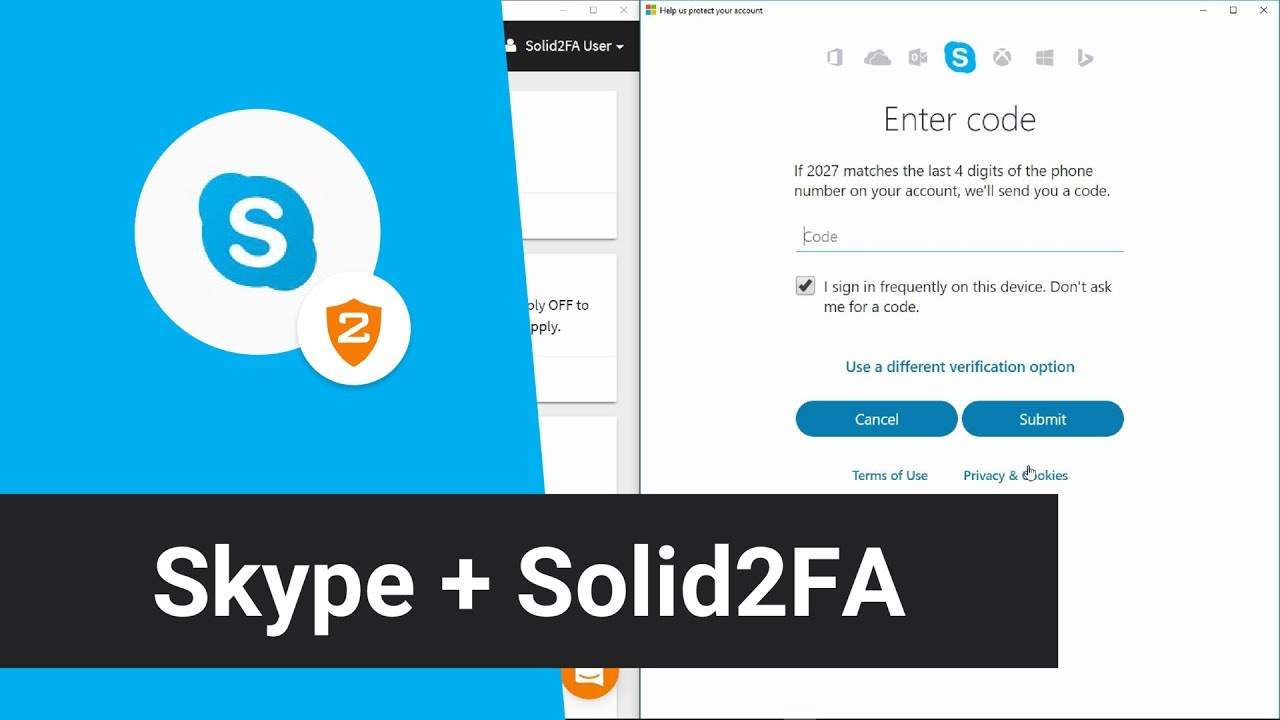 Skype login account - Skype Solid2fa Secure 2 Step Login For Your Skype Account