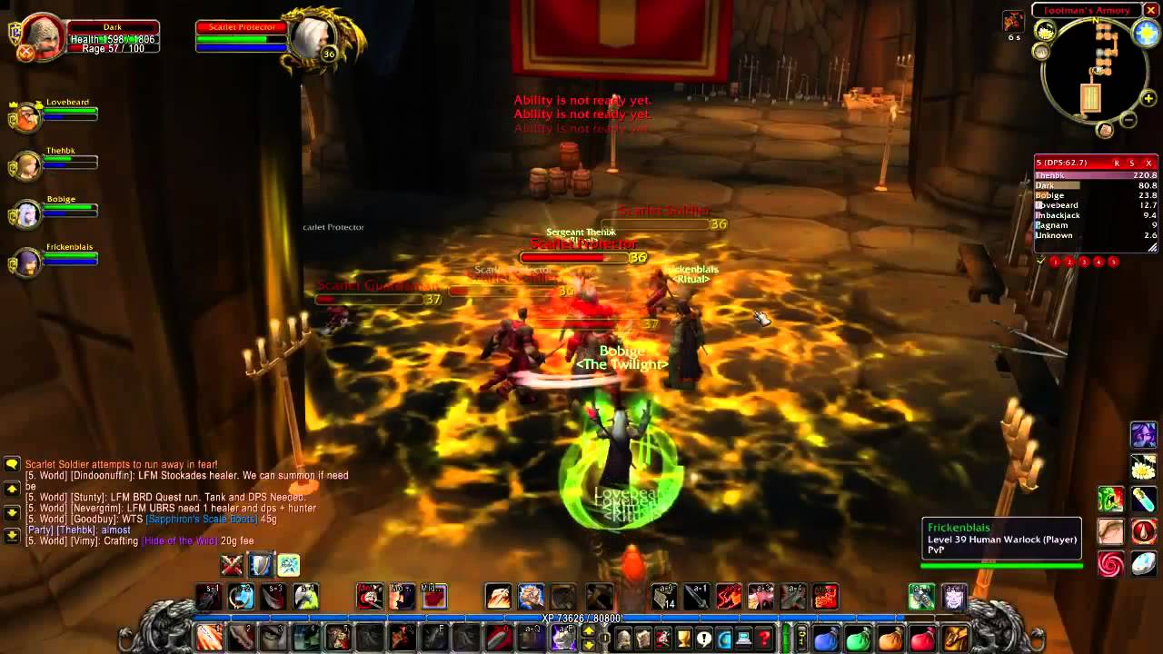 VANILLA WOW Dungeons: Scarlet Monastery Armory (DPS)