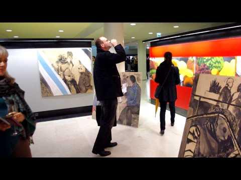 "Virka Gallery, ""OSTARI"" Art Exhibit opening, City Hall Helsinki, September 13, 2011"