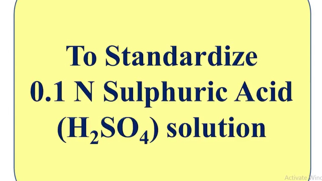 How to prepare 1n sulphuric acid solution