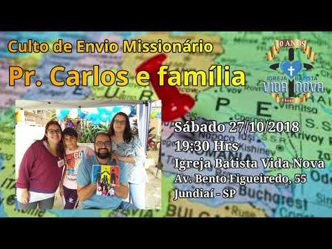 Convite: Culto de Envio Missionário - Família Schulz