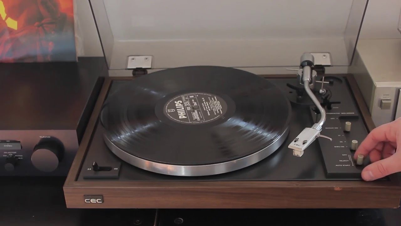CEC BD 4200 (Rare 70´s Vintage Turntable) - YouTube