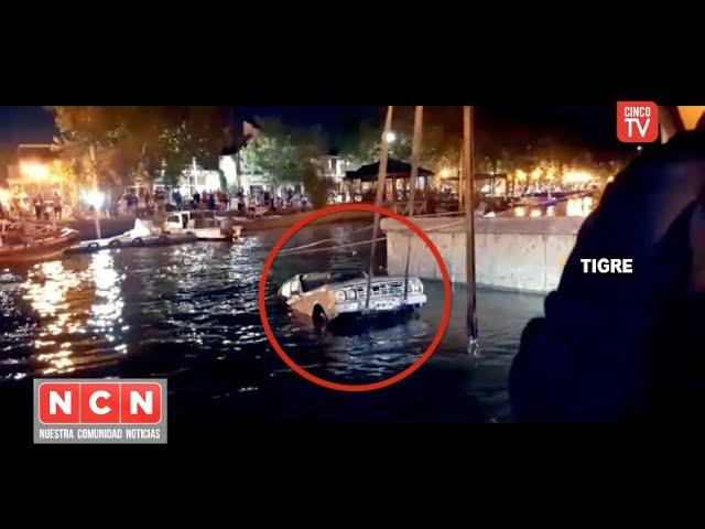 CINCO TV - Automóvil cayó a las aguas del río y fue rescatado por el COT