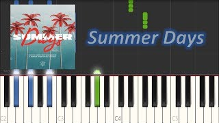 Martin Garrix feat Macklemore & Patrick Stump - Summer Days (Piano Tutorial)|Magic Hands