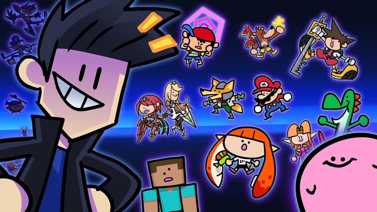 Download All Super Smash Bros Ultimate Characters Drawn in the Something Style